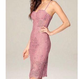 Bebe bustier lace midi dress